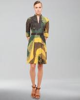 Akris Garden-Print Cotton Voile Dress