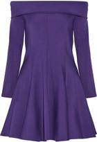 Halston Off-the-shoulder stretch-jersey dress