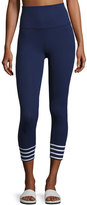 Beyond Yoga x kate spade new york sailing stripe cuff capri leggings, Navy