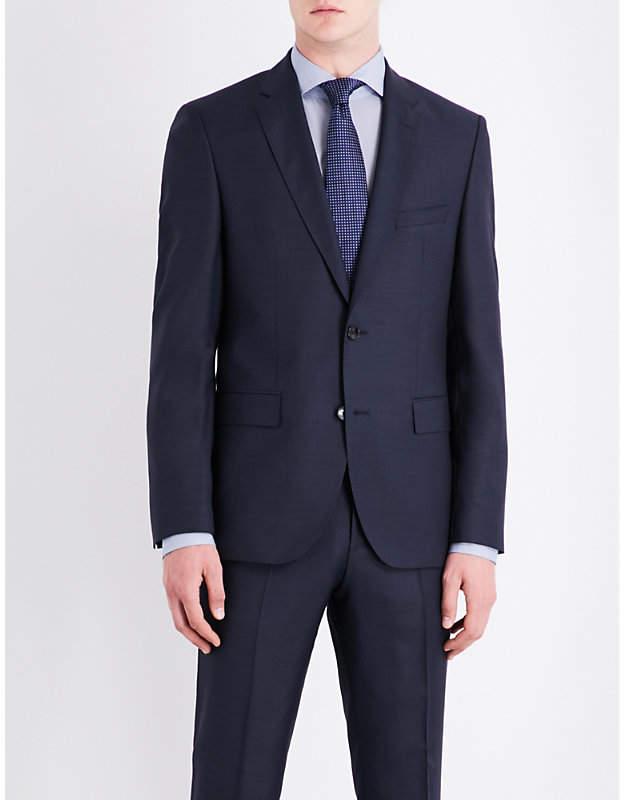 BOSS Birdseye slim-fit wool jacket