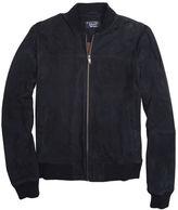 Original Penguin Op Blue Suede Leather Bomber