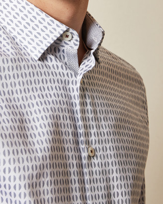 Ted Baker REWRITE Cotton geo print shirt