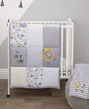 NoJo Little Love by Roarsome Lion 3-Piece Mini Crib Bedding Set Bedding