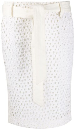 Gianfranco Ferré Pre-Owned 1990s Openwork Pattern Fitted Skirt