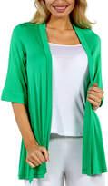 24/7 Comfort Apparel Women's 3/4 Sleeve Open Shrug