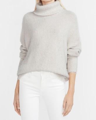 Express Fuzzy Turtleneck Sweater