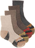 Timberland Boys Cushioned Toddler Crew Socks - 4 Pack -Multicolor