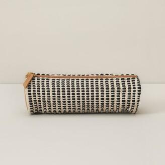Indigo Paper Good Earth Pencil Pouch Tube Textured Fabric