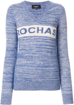 Rochas logo v-neck jumper