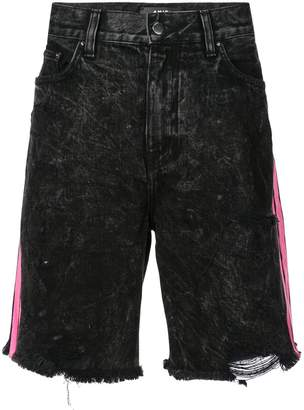 Amiri acid-wash denim shorts