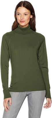 Pendleton Woolen Mills Pendleton Women's Merino Ribneck Turtleneck Sweater