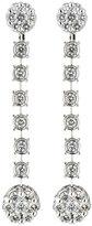 Neiman Marcus Diamonds 14k White Gold Flower Diamond Dangle Earrings