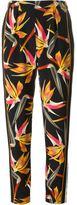 Fendi Bird of Paradise print trousers - women - Silk - 42