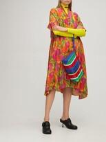 Thumbnail for your product : Balenciaga Oversized tulip print silk crepe dress