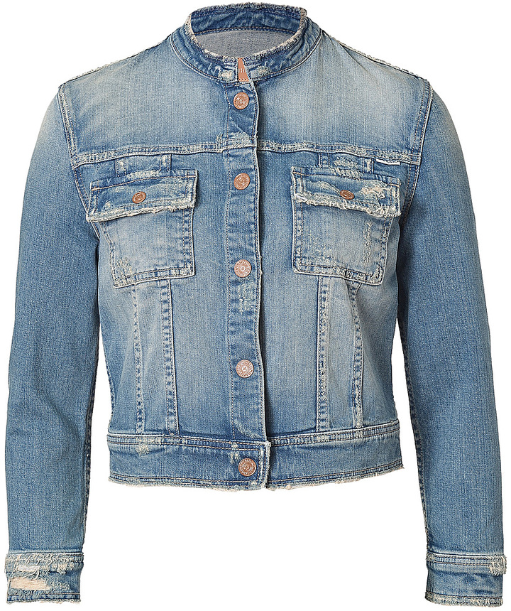 Mother Stretch Cotton Love Drunk Snap Jean Jacket