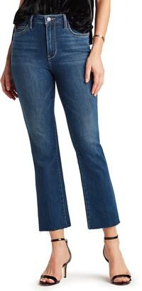 Sam Edelman The Stiletto High Waist Raw Hem Crop Bootcut Jeans