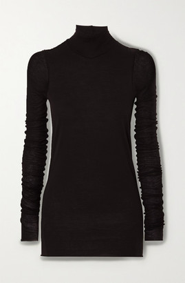 Rick Owens Lillies Stretch-jersey Turtleneck Top