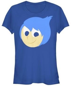 Fifth Sun Disney Pixar Women's Inside Out Joy Face Halloween Short Sleeve Tee Shirt