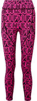 Fendi Printed Stretch Leggings - Bright pink