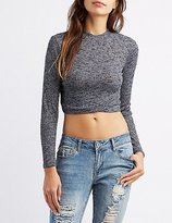 Charlotte Russe Ribbed Mock Neck Crop Top