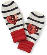 Gap Sequin heart mittens