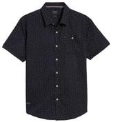 7 Diamonds Men's New Tradition Print Woven Shirt