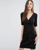 Sisley Wrap Front Pinstripe Dress