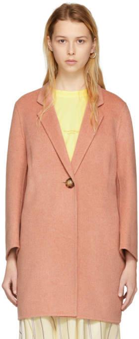 Acne Studios Pink Anine Double Coat
