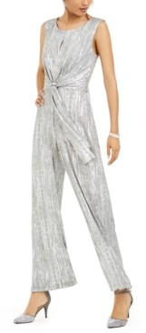 Connected Keyhole Tie-Waist Jumpsuit