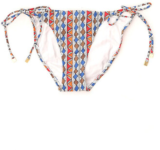 Tory Burch Printed String Bikini Bottoms