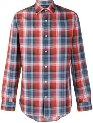 Ermenegildo Zegna Long Sleeve Check Print Shirt