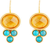 Evelyn Knight Citrine & Turquoise Earrings