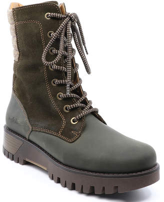 Bos. & Co. Women's Casual boots OLIVE/BEIGE - Olive & Beige Guide Prima Leather Boot - Women