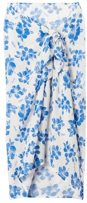 Solid And Striped Pareo 3-Way Floral Cover-Up