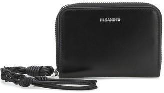 Jil Sander Tangle leather wallet