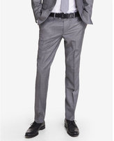 Express skinny innovator micro twill gray suit pant
