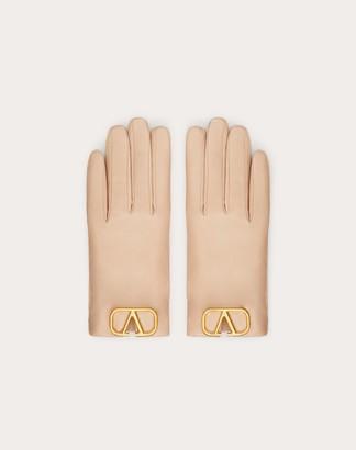 Valentino Vlogo Gloves Women Rouge Pur 7