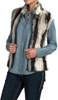 Powder River Outfitters Faux-Fur Vest - Knit Back (For Women)
