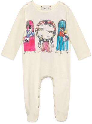 Gucci Baby Yuko Higuchi print cotton one-piece