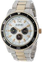 August Steiner Men's AS8059TTG Quartz Multi-Function Divers Bracelet Watch