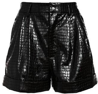 Alice + Olivia Conry Vegan Leather Shorts