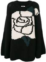 MM6 MAISON MARGIELA intarsia rose jumper
