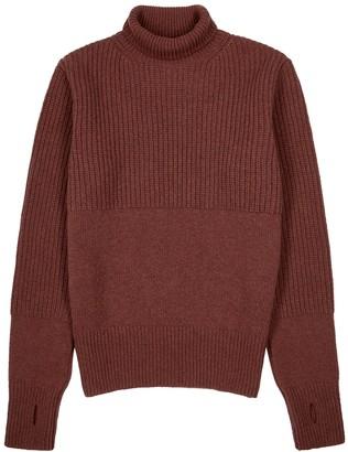 Oliver Spencer Talbot burgundy roll-neck wool jumper