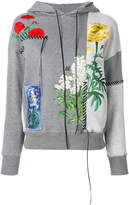 Alexander McQueen floral embroidered hoodie