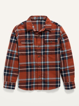 Old Navy Built-In Flex Plaid Flannel Shirt for Boys