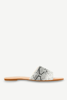 Ardene Faux Snakeskin Slides