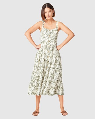 French Connection Women's Dresses - Tonal Tropical Tiered Dress - Size One Size, 16 at The Iconic