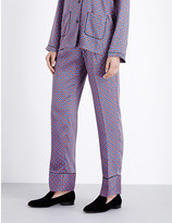 Sandro Dany straight high-rise satin trousers
