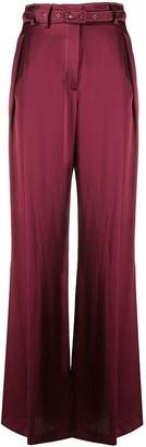 Gabriela Hearst Wide Leg Silk Flared Trousers