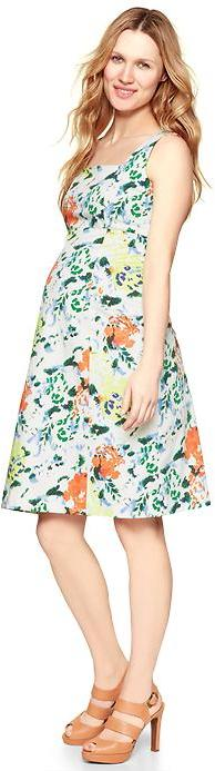 Gap Floral sateen A-line dress